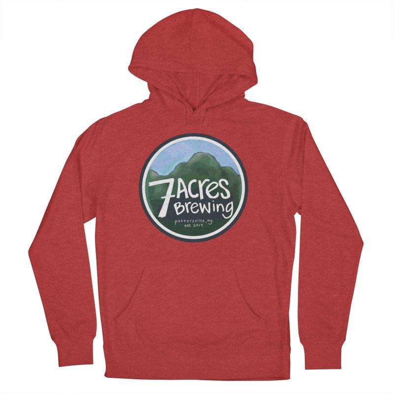 7 Acres Brewing Badge Women's Pullover Hoody by Renee Leigh Stephenson Artist Shop