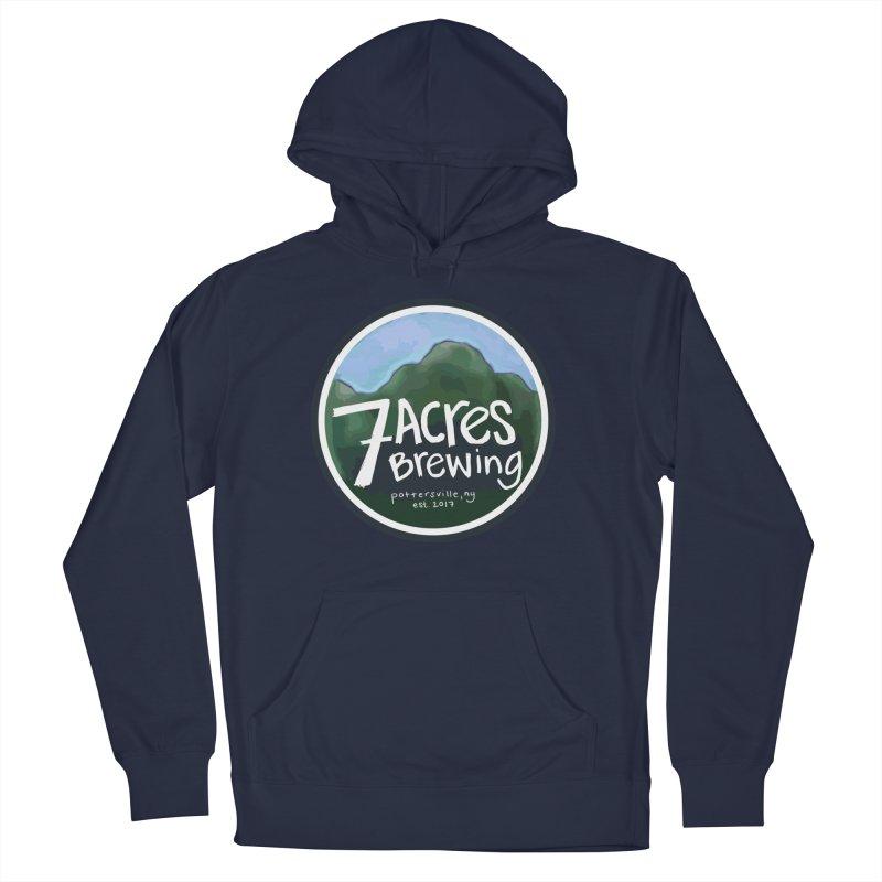 7 Acres Brewing Badge Men's Pullover Hoody by Renee Leigh Stephenson Artist Shop