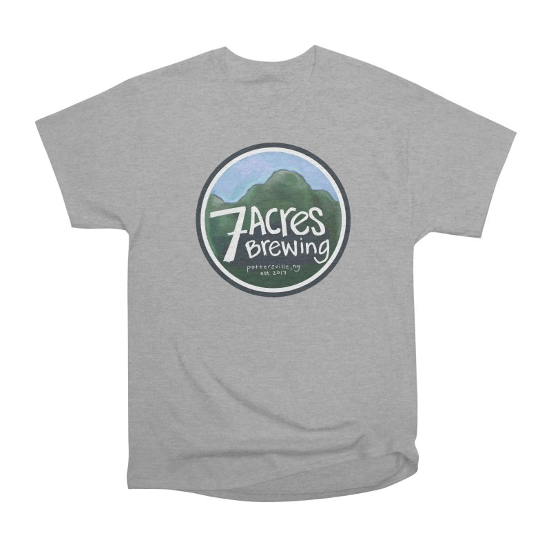 7 Acres Brewing Badge Men's Heavyweight T-Shirt by Renee Leigh Stephenson Artist Shop