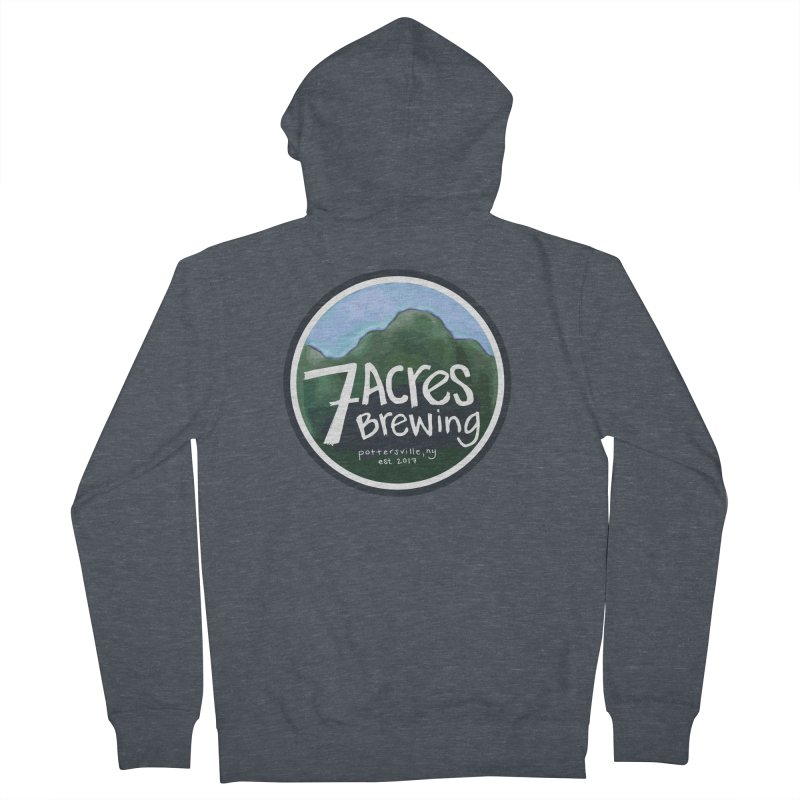 7 Acres Brewing Badge Women's French Terry Zip-Up Hoody by Renee Leigh Stephenson Artist Shop