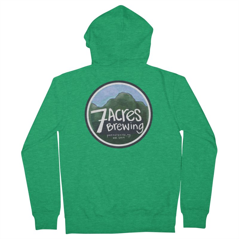 7 Acres Brewing Badge Men's Zip-Up Hoody by Renee Leigh Stephenson Artist Shop