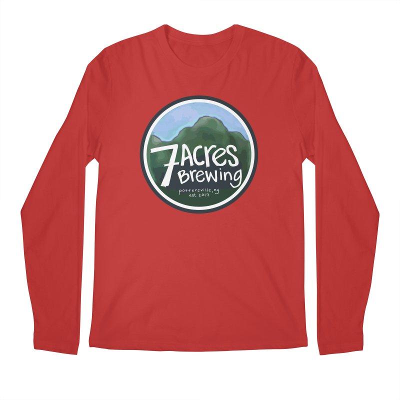 7 Acres Brewing Badge Men's Longsleeve T-Shirt by Renee Leigh Stephenson Artist Shop