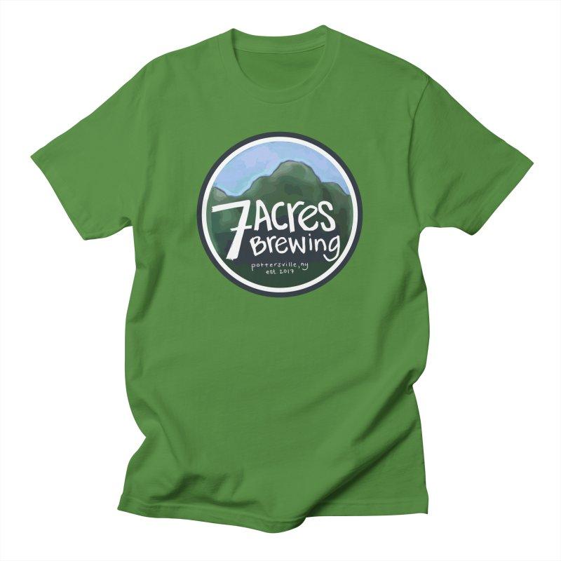 7 Acres Brewing Badge Men's Regular T-Shirt by Renee Leigh Stephenson Artist Shop