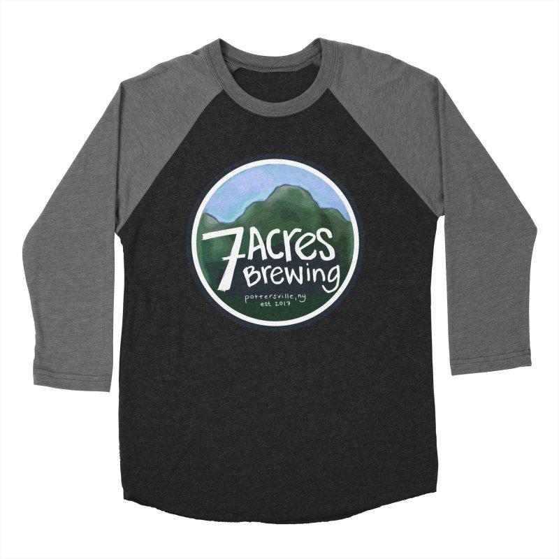 7 Acres Brewing Badge Men's Baseball Triblend Longsleeve T-Shirt by Renee Leigh Stephenson Artist Shop