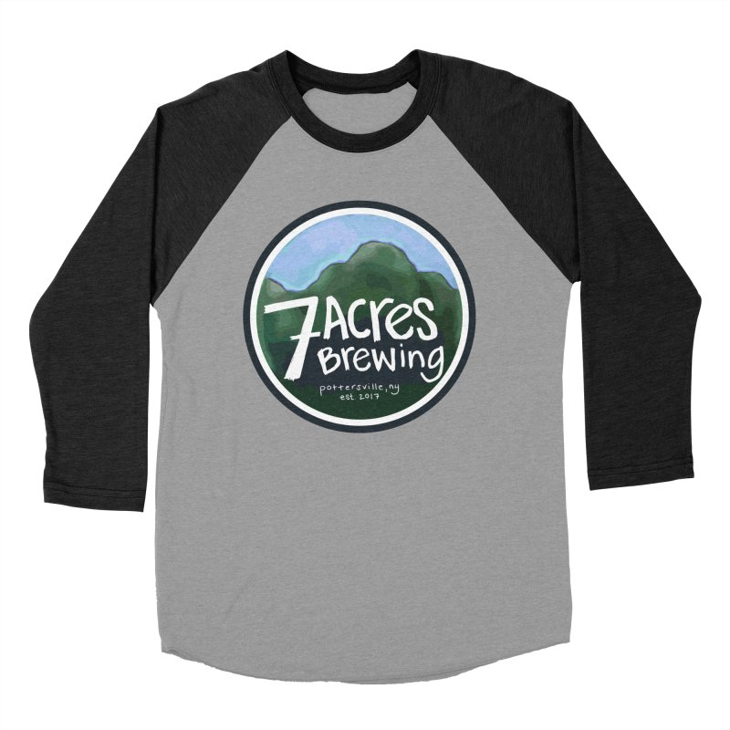 7 Acres Brewing Badge Men's Baseball Triblend T-Shirt by Renee Leigh Stephenson Artist Shop
