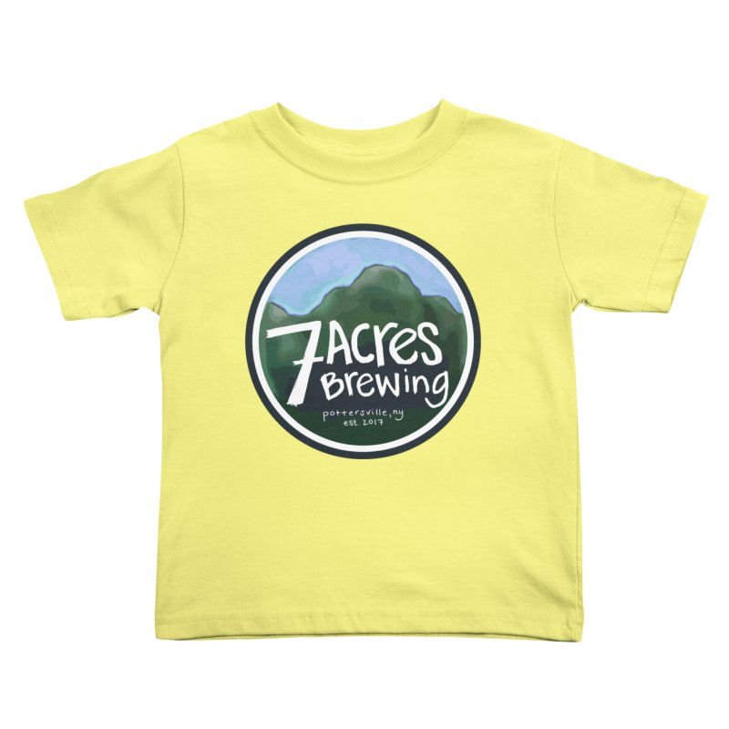 7 Acres Brewing Badge Kids Toddler T-Shirt by Renee Leigh Stephenson Artist Shop