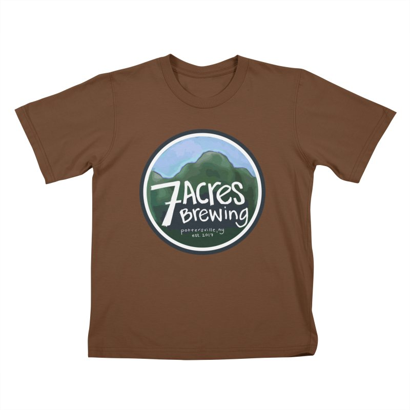 7 Acres Brewing Badge Kids T-Shirt by Renee Leigh Stephenson Artist Shop