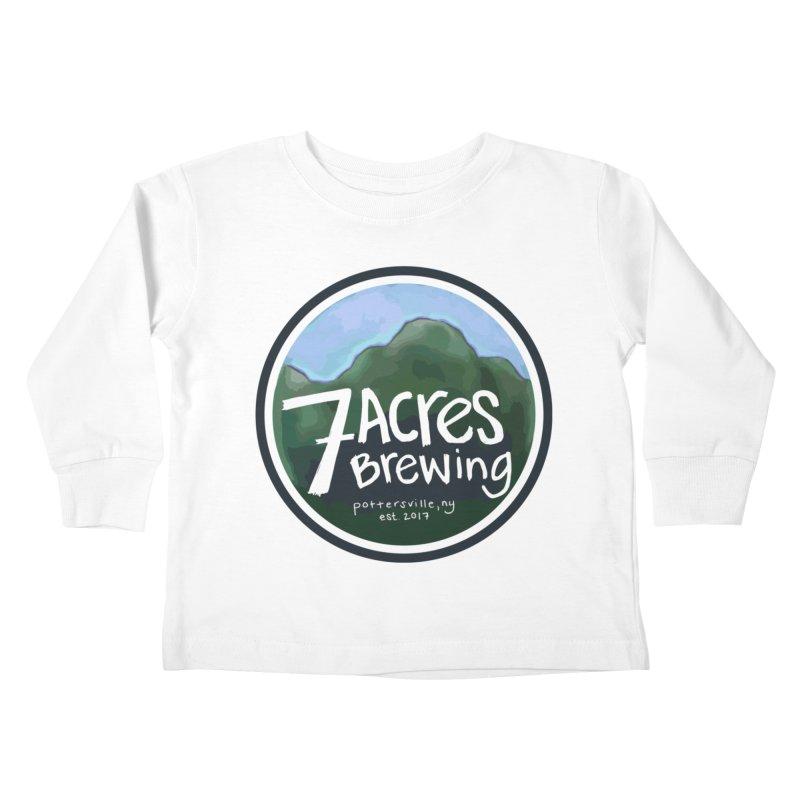 7 Acres Brewing Badge Kids Toddler Longsleeve T-Shirt by Renee Leigh Stephenson Artist Shop