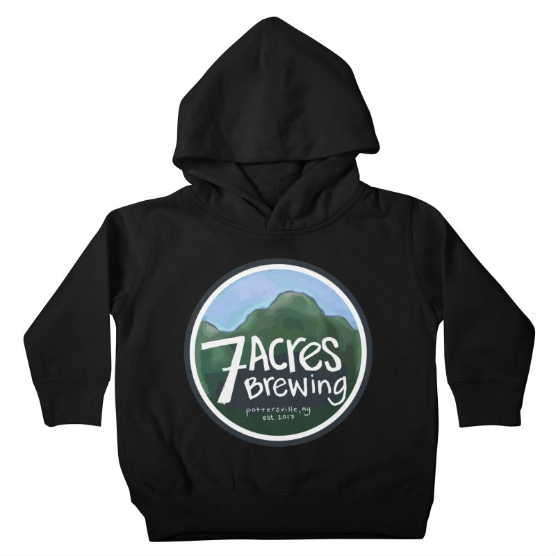 7 Acres Brewing Badge Kids Toddler Pullover Hoody by Renee Leigh Stephenson Artist Shop