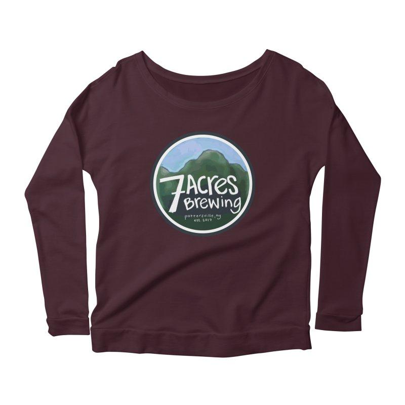 7 Acres Brewing Badge Women's Scoop Neck Longsleeve T-Shirt by Renee Leigh Stephenson Artist Shop