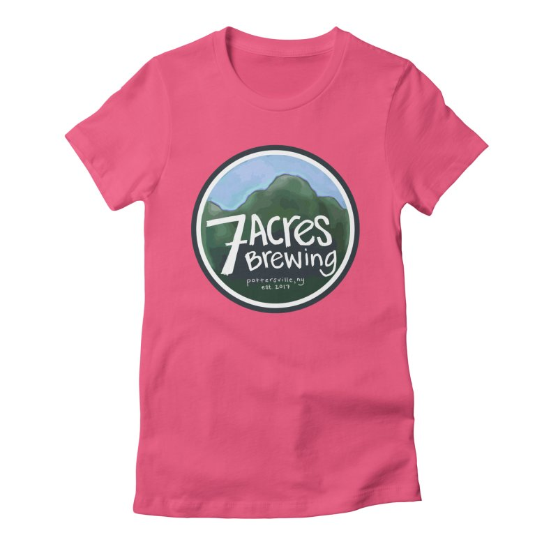 7 Acres Brewing Badge Women's Fitted T-Shirt by Renee Leigh Stephenson Artist Shop