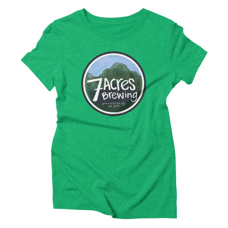 7 Acres Brewing Badge Women's Triblend T-Shirt by Renee Leigh Stephenson Artist Shop