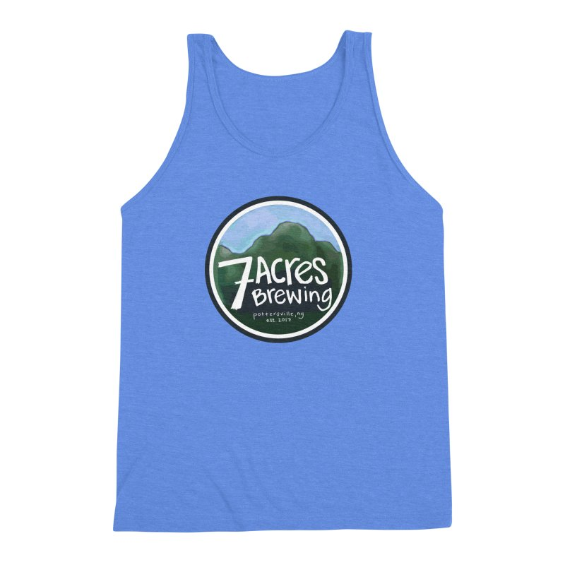 7 Acres Brewing Badge Men's Triblend Tank by Renee Leigh Stephenson Artist Shop