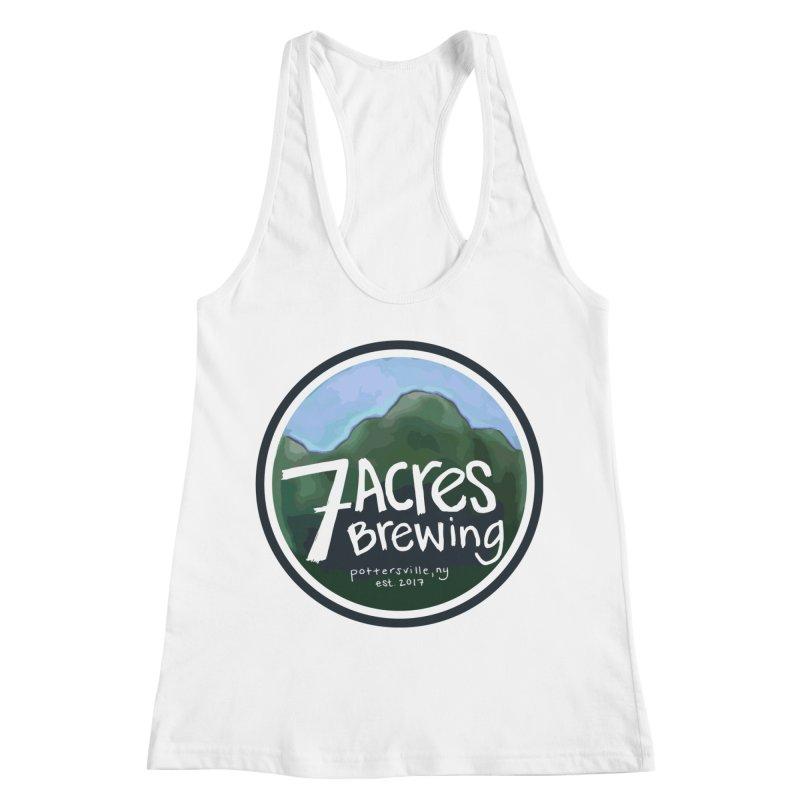 7 Acres Brewing Badge Women's Racerback Tank by Renee Leigh Stephenson Artist Shop