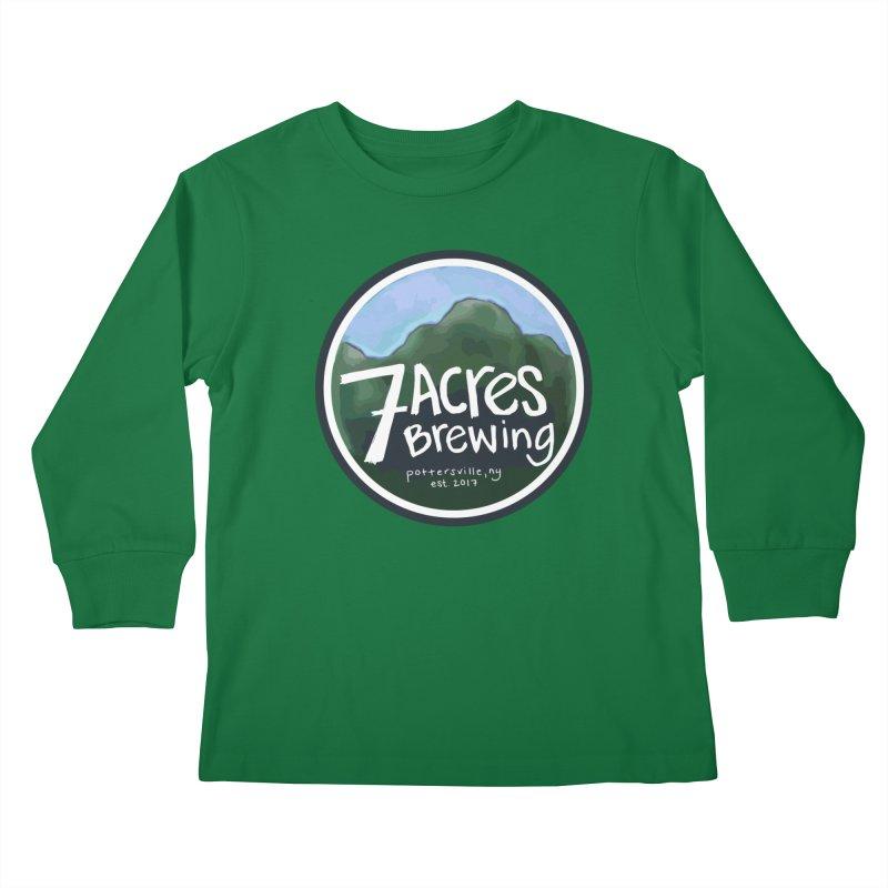 7 Acres Brewing Badge Kids Longsleeve T-Shirt by Renee Leigh Stephenson Artist Shop