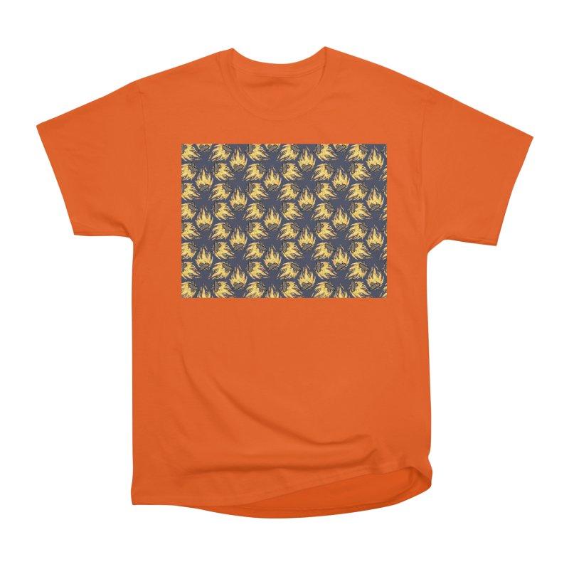 Campfire Pattern Women's Heavyweight Unisex T-Shirt by Renee Leigh Stephenson Artist Shop