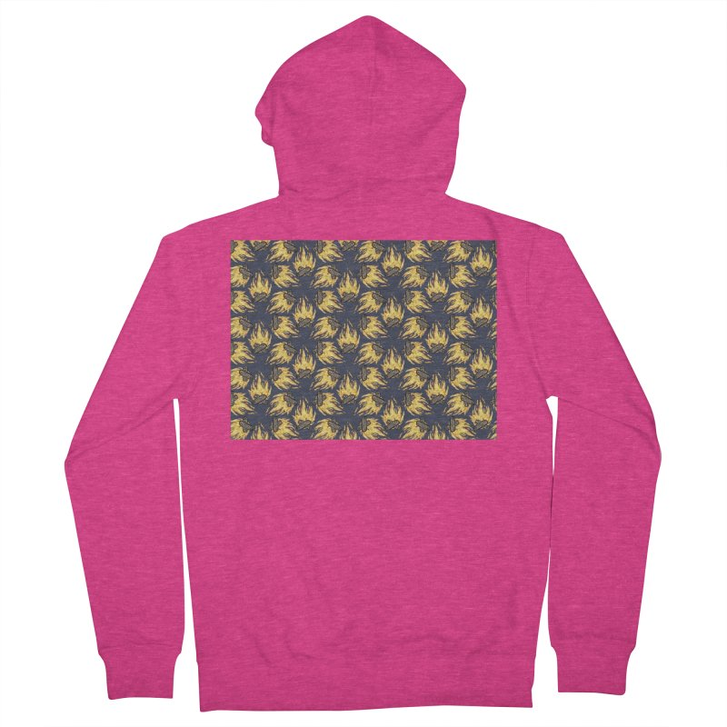 Campfire Pattern Women's French Terry Zip-Up Hoody by Renee Leigh Stephenson Artist Shop