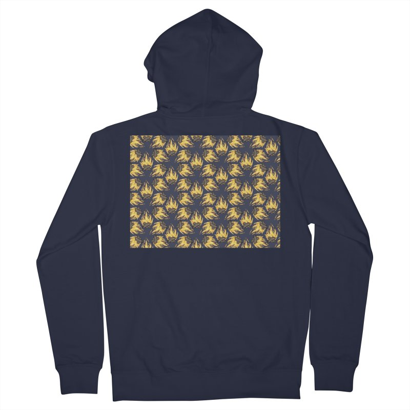 Campfire Pattern Men's French Terry Zip-Up Hoody by Renee Leigh Stephenson Artist Shop
