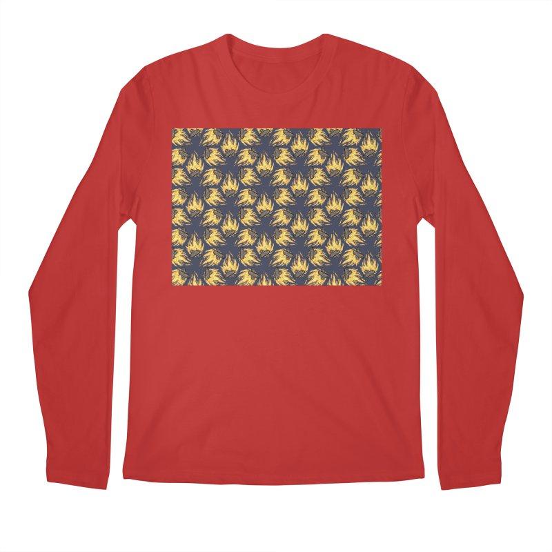 Campfire Pattern Men's Longsleeve T-Shirt by Renee Leigh Stephenson Artist Shop