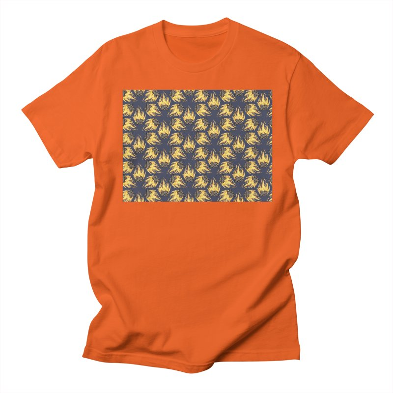 Campfire Pattern Men's T-Shirt by Renee Leigh Stephenson Artist Shop