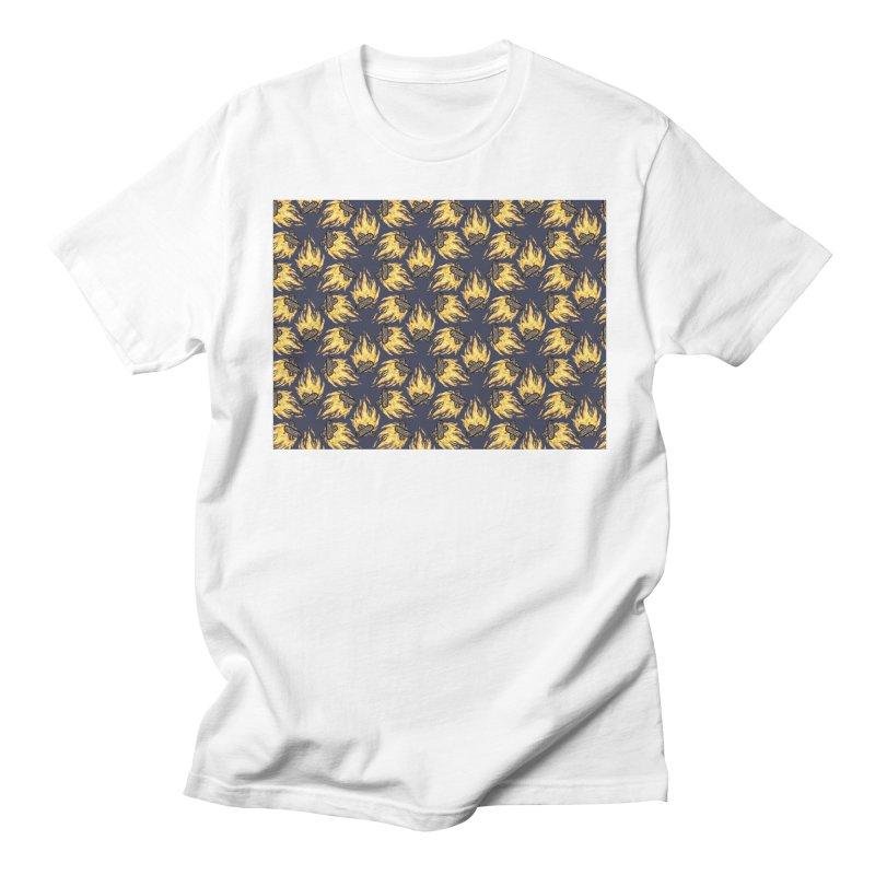 Campfire Pattern Men's Regular T-Shirt by Renee Leigh Stephenson Artist Shop