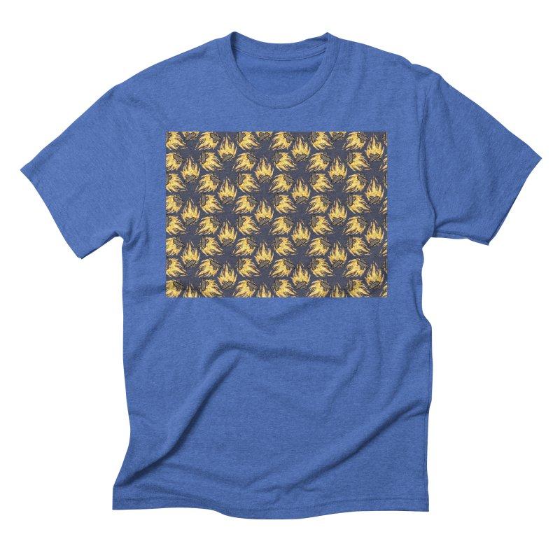 Campfire Pattern Men's Triblend T-Shirt by Renee Leigh Stephenson Artist Shop
