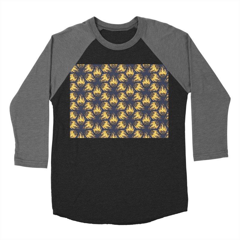 Campfire Pattern Men's Baseball Triblend T-Shirt by Renee Leigh Stephenson Artist Shop