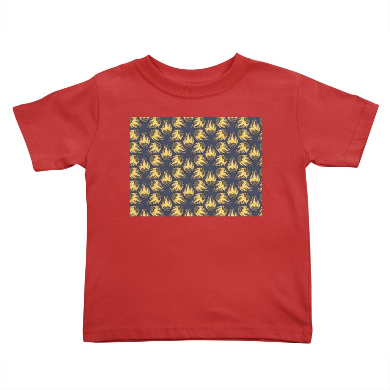 Campfire Pattern Kids Toddler T-Shirt by Renee Leigh Stephenson Artist Shop