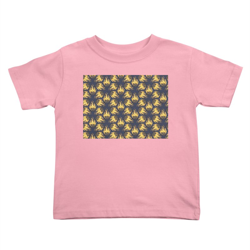 Campfire Pattern Kids Toddler T-Shirt by Renee Leigh Stephenson Artist Shop