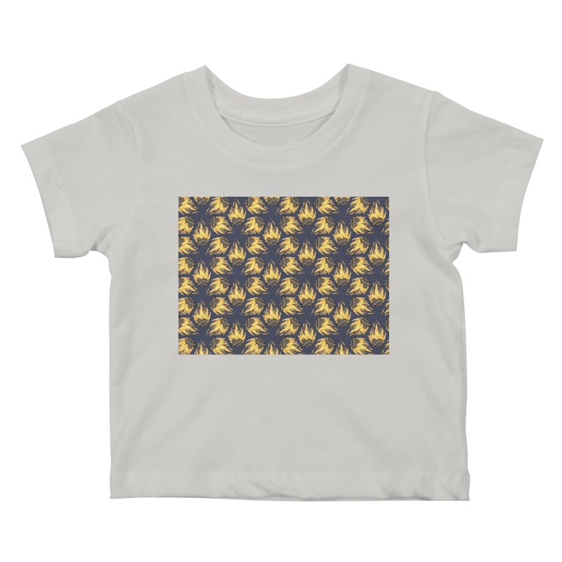 Campfire Pattern Kids Baby T-Shirt by Renee Leigh Stephenson Artist Shop