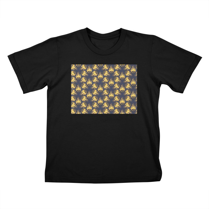 Campfire Pattern Kids T-Shirt by Renee Leigh Stephenson Artist Shop