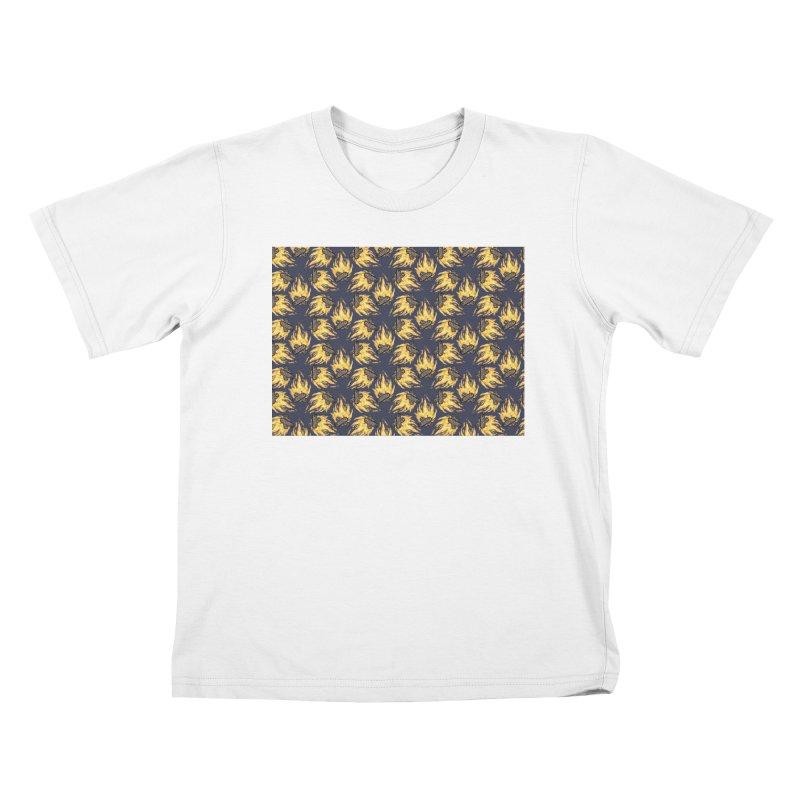 Campfire Pattern Kids T-Shirt by Renee Leigh Stephenson Artist Shop