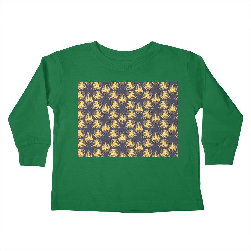 Campfire Pattern Kids Toddler Longsleeve T-Shirt by Renee Leigh Stephenson Artist Shop