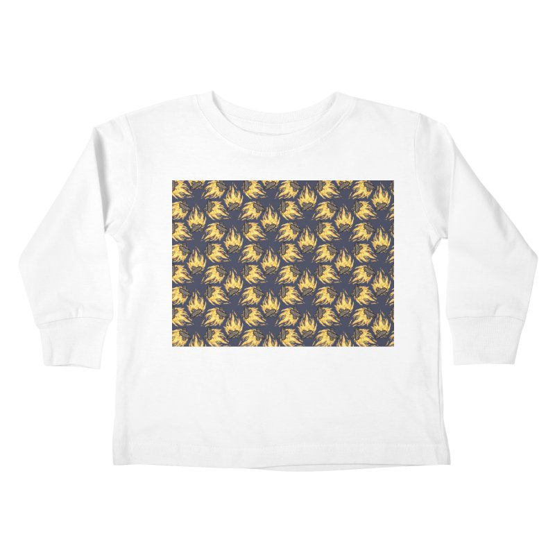 Campfire Pattern Kids Toddler Longsleeve T-Shirt by Renee Leigh Stephenson Artist Shop