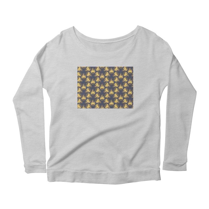 Campfire Pattern Women's Scoop Neck Longsleeve T-Shirt by Renee Leigh Stephenson Artist Shop