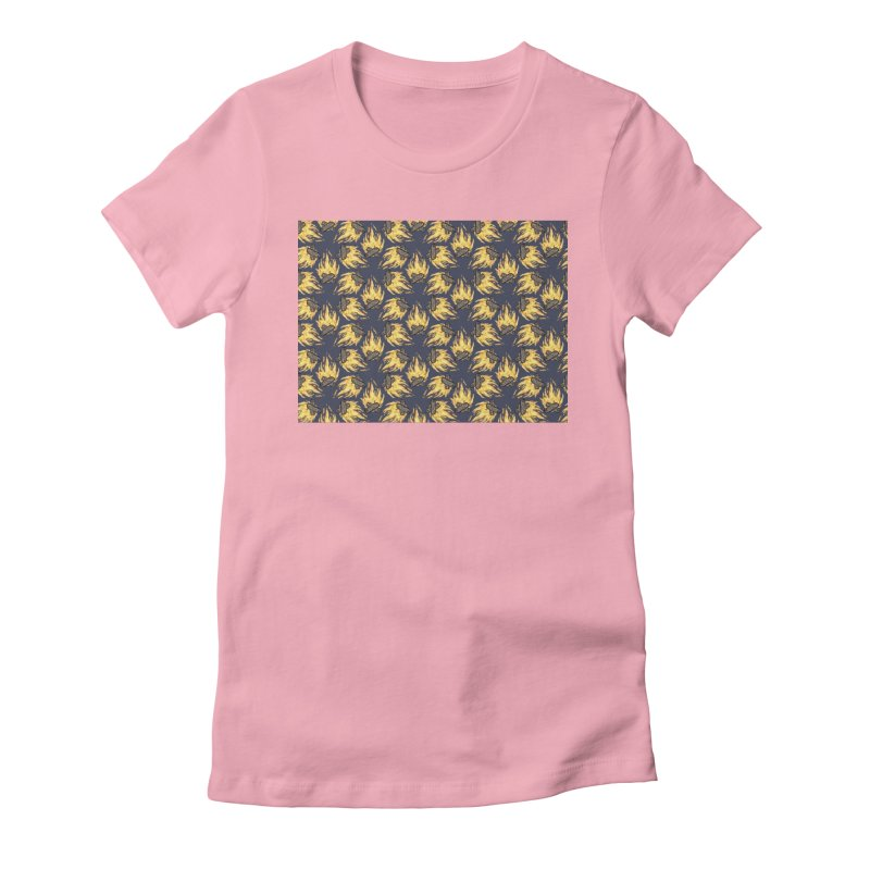 Campfire Pattern Women's Fitted T-Shirt by Renee Leigh Stephenson Artist Shop