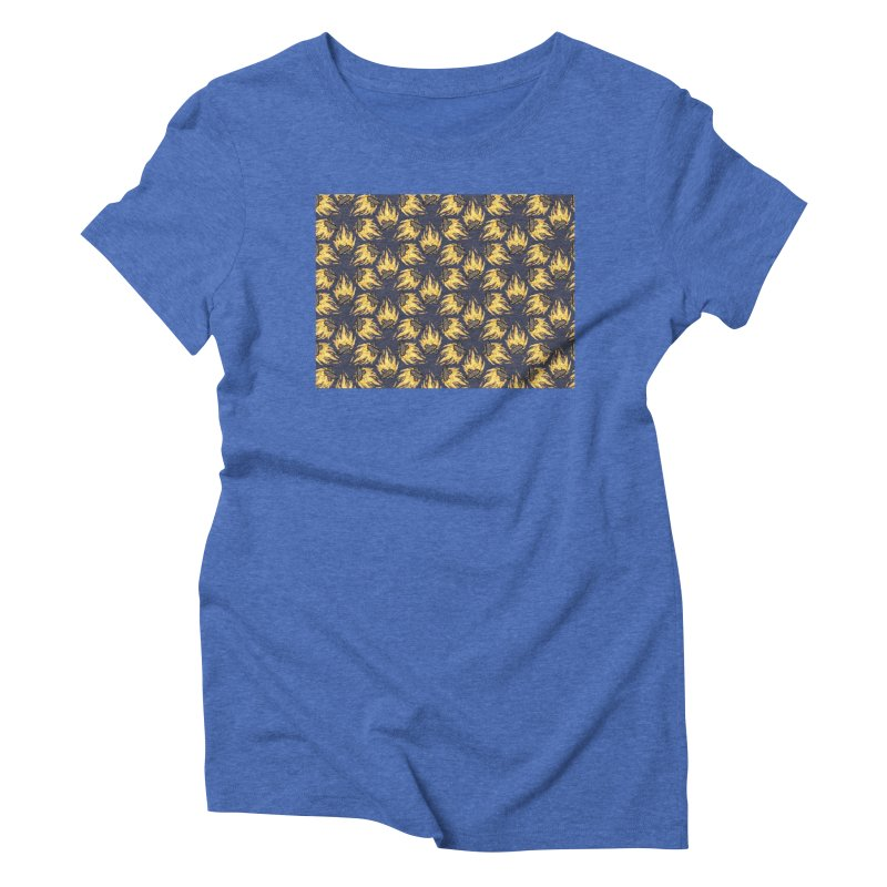Campfire Pattern Women's Triblend T-Shirt by Renee Leigh Stephenson Artist Shop