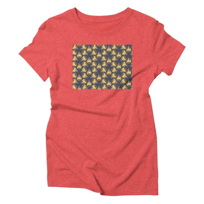 Campfire Pattern Women's Triblend T-Shirt by Renee Leigh Stephenson Artist Shop