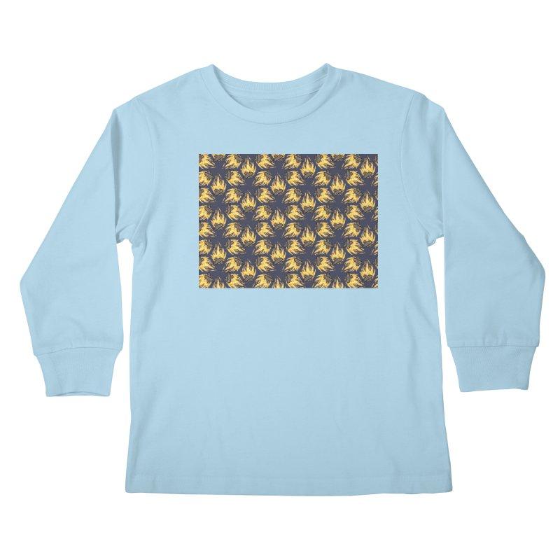 Campfire Pattern Kids Longsleeve T-Shirt by Renee Leigh Stephenson Artist Shop