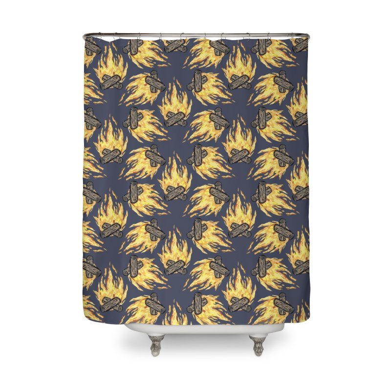 Campfire Pattern Home Shower Curtain by Renee Leigh Stephenson Artist Shop