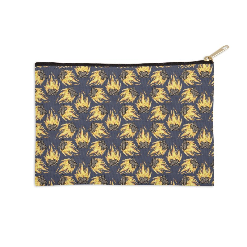 Campfire Pattern Accessories Zip Pouch by Renee Leigh Stephenson Artist Shop