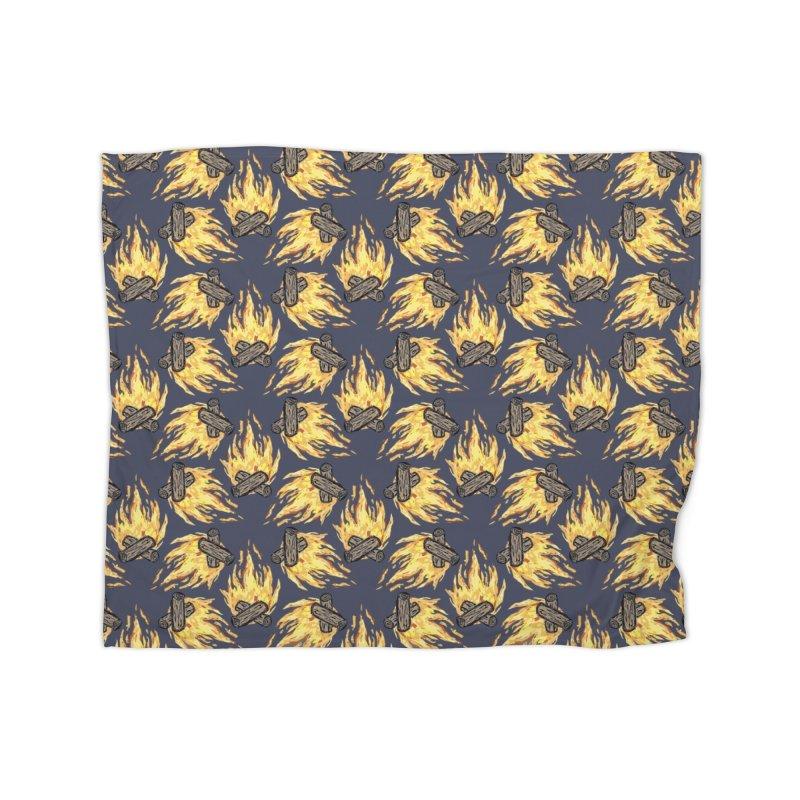 Campfire Pattern Home Fleece Blanket Blanket by Renee Leigh Stephenson Artist Shop
