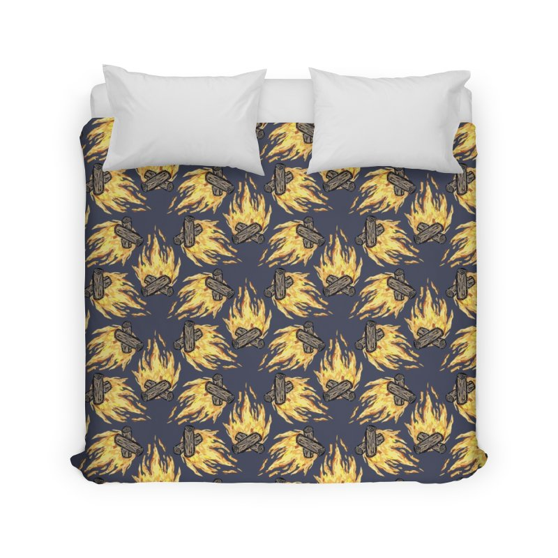 Campfire Pattern Home Duvet by Renee Leigh Stephenson Artist Shop
