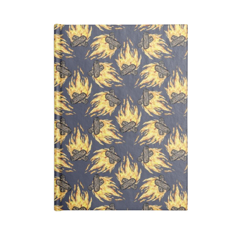 Campfire Pattern Accessories Notebook by Renee Leigh Stephenson Artist Shop