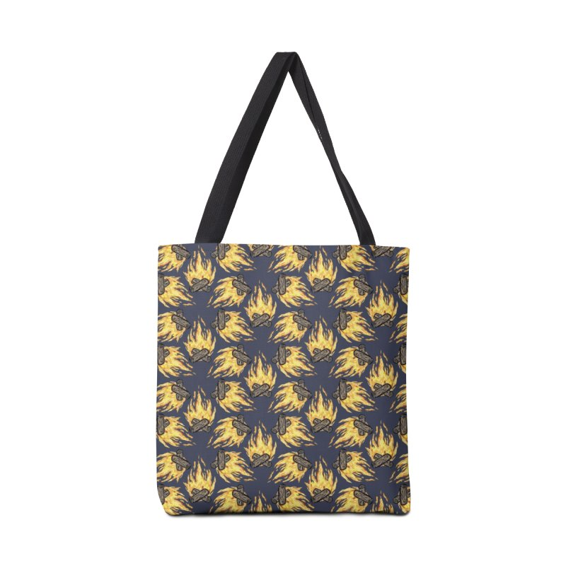 Campfire Pattern Accessories Bag by Renee Leigh Stephenson Artist Shop