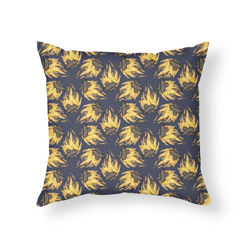 Campfire Pattern Home Throw Pillow by Renee Leigh Stephenson Artist Shop
