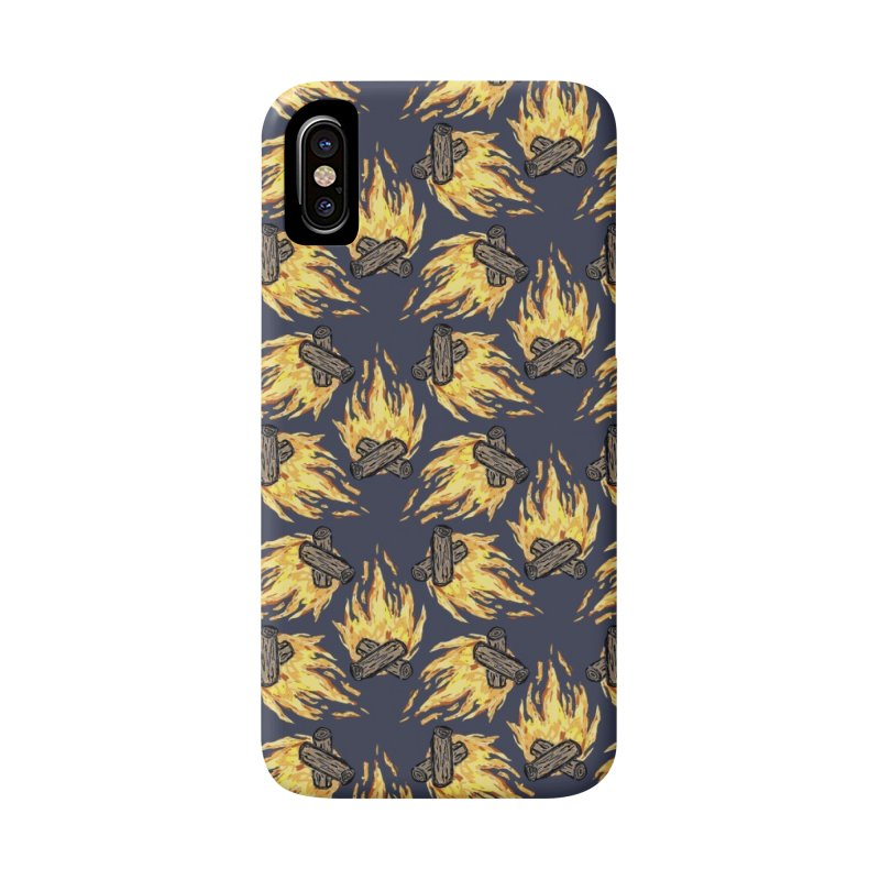 Campfire Pattern Accessories Phone Case by Renee Leigh Stephenson Artist Shop