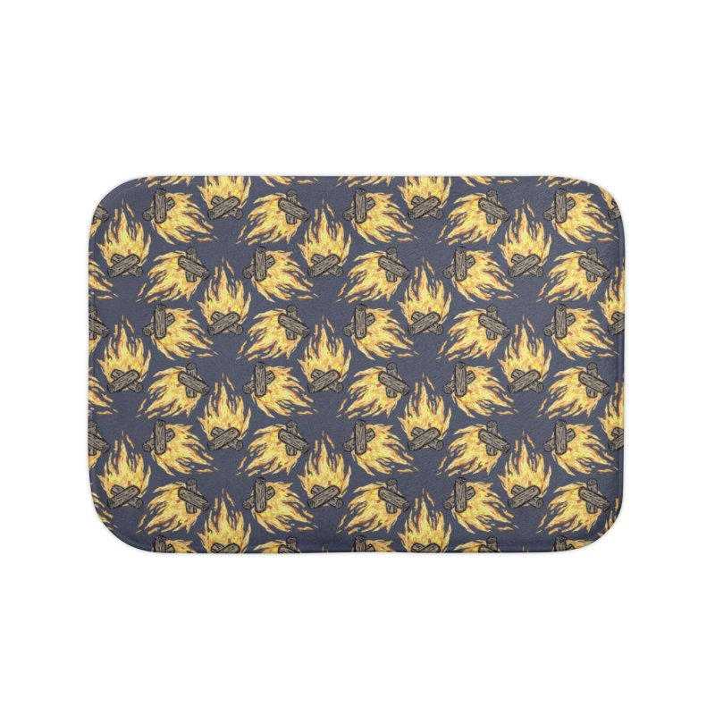 Campfire Pattern Home Bath Mat by Renee Leigh Stephenson Artist Shop
