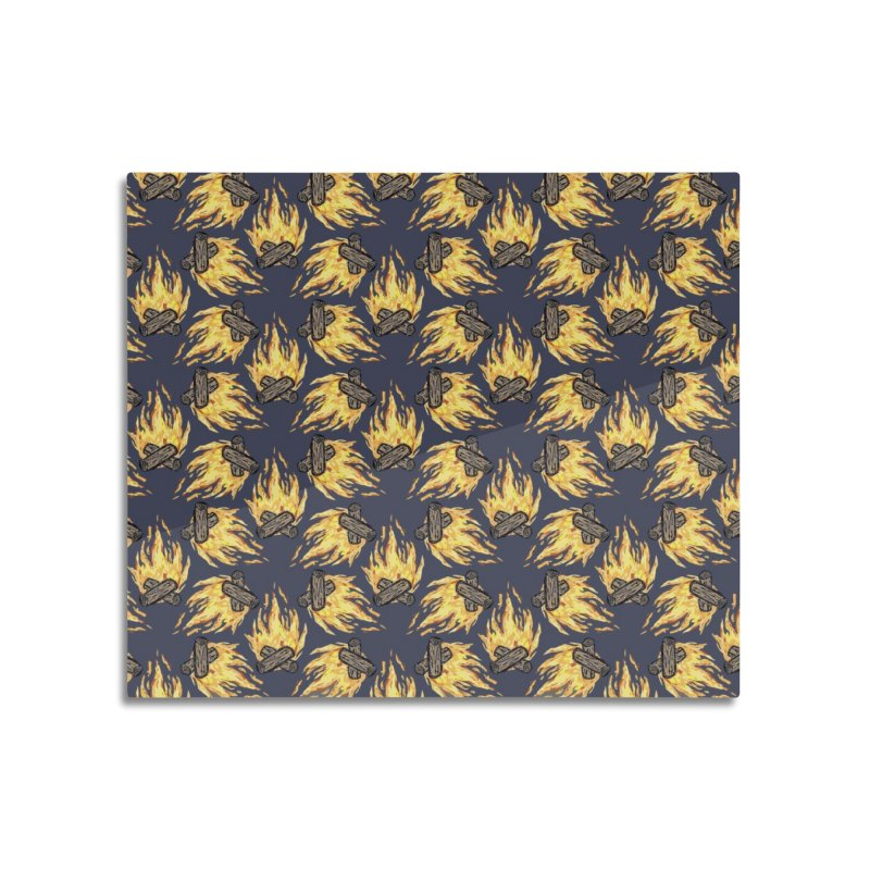 Campfire Pattern Home Mounted Aluminum Print by Renee Leigh Stephenson Artist Shop