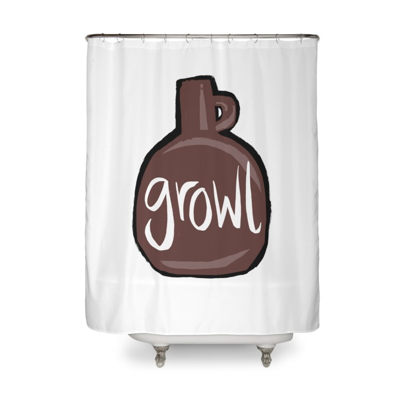 Growl Home Shower Curtain by Renee Leigh Stephenson Artist Shop